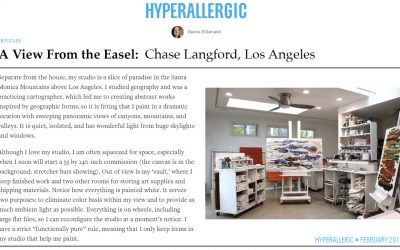 Hyperallergic Features Chase Langford Studio