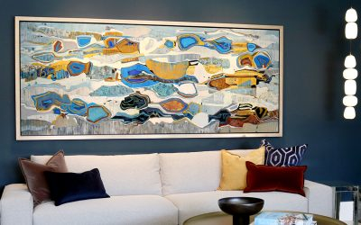 Rancho Mirage Home Graced with Birthday Present Painting